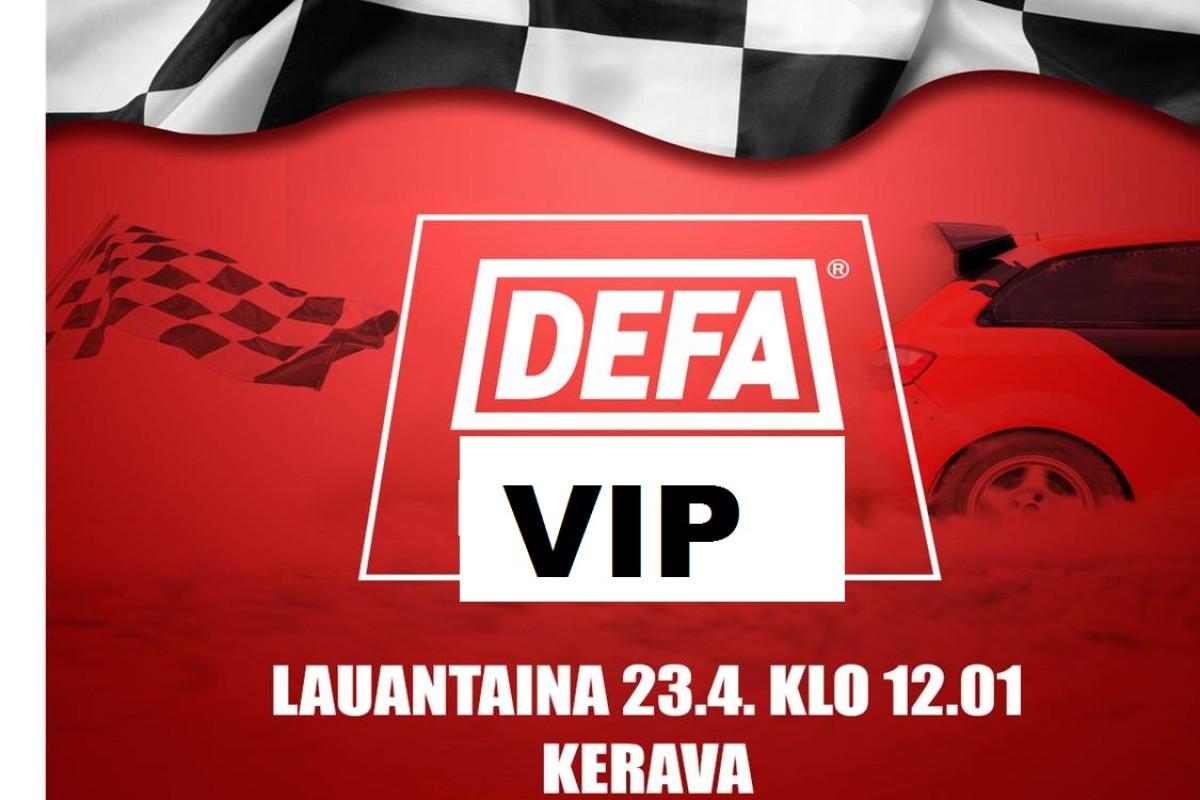 Vielä ehdit VIP-vieraaksi Defa ralliin